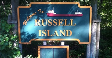russell island michigan